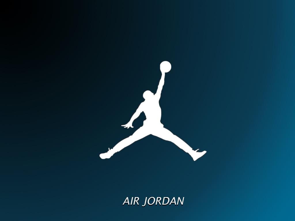 Air Jordan Bleu Logo Fond Décran