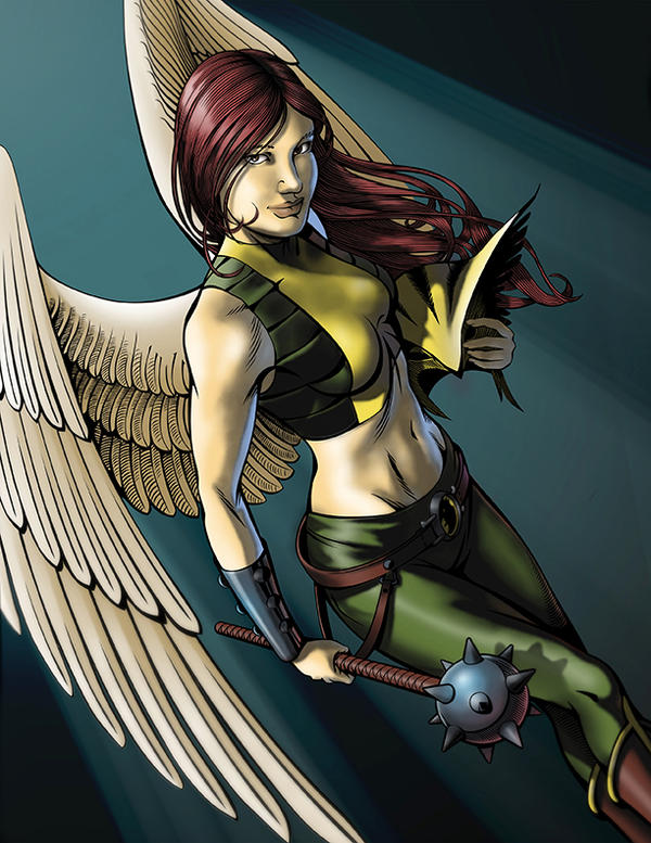 Dayana como Hawkgirl by LeJockeyPerdu