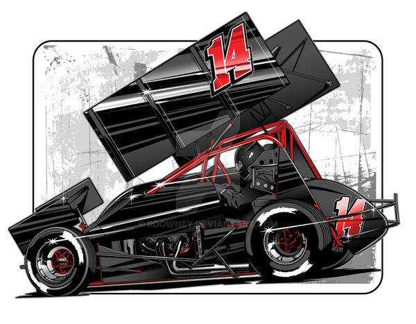 Sprint Car Vector 12 By Rdowney On Deviantart