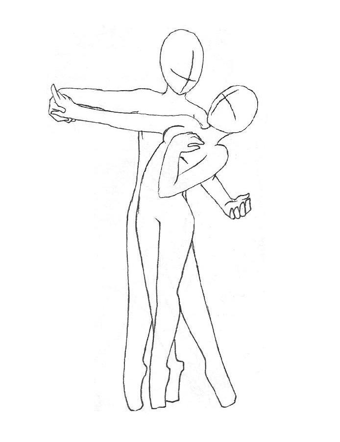 dancing couple outline by missyamagawa on deviantart