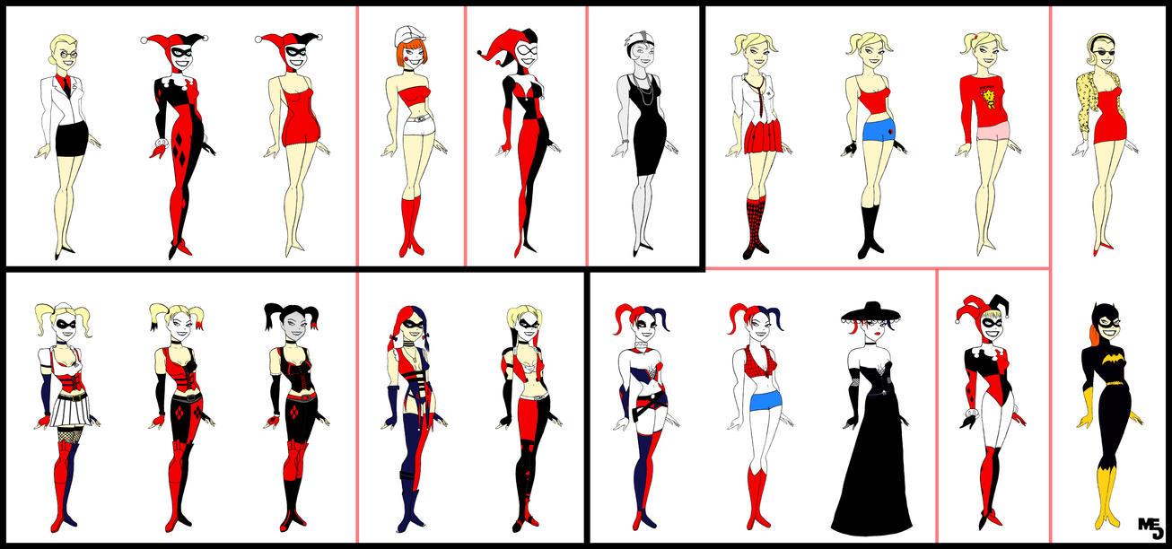 All-Star Harley Quinn | 20 Costumes | By Mark-EG On DeviantArt