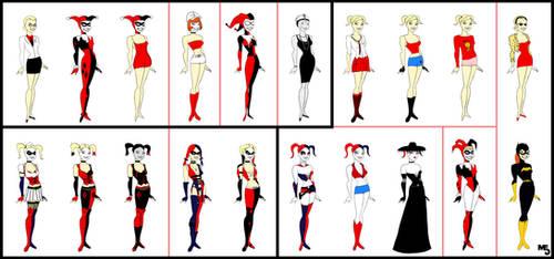 All-Star Harley Quinn | 20 costumes | by Mark-EG