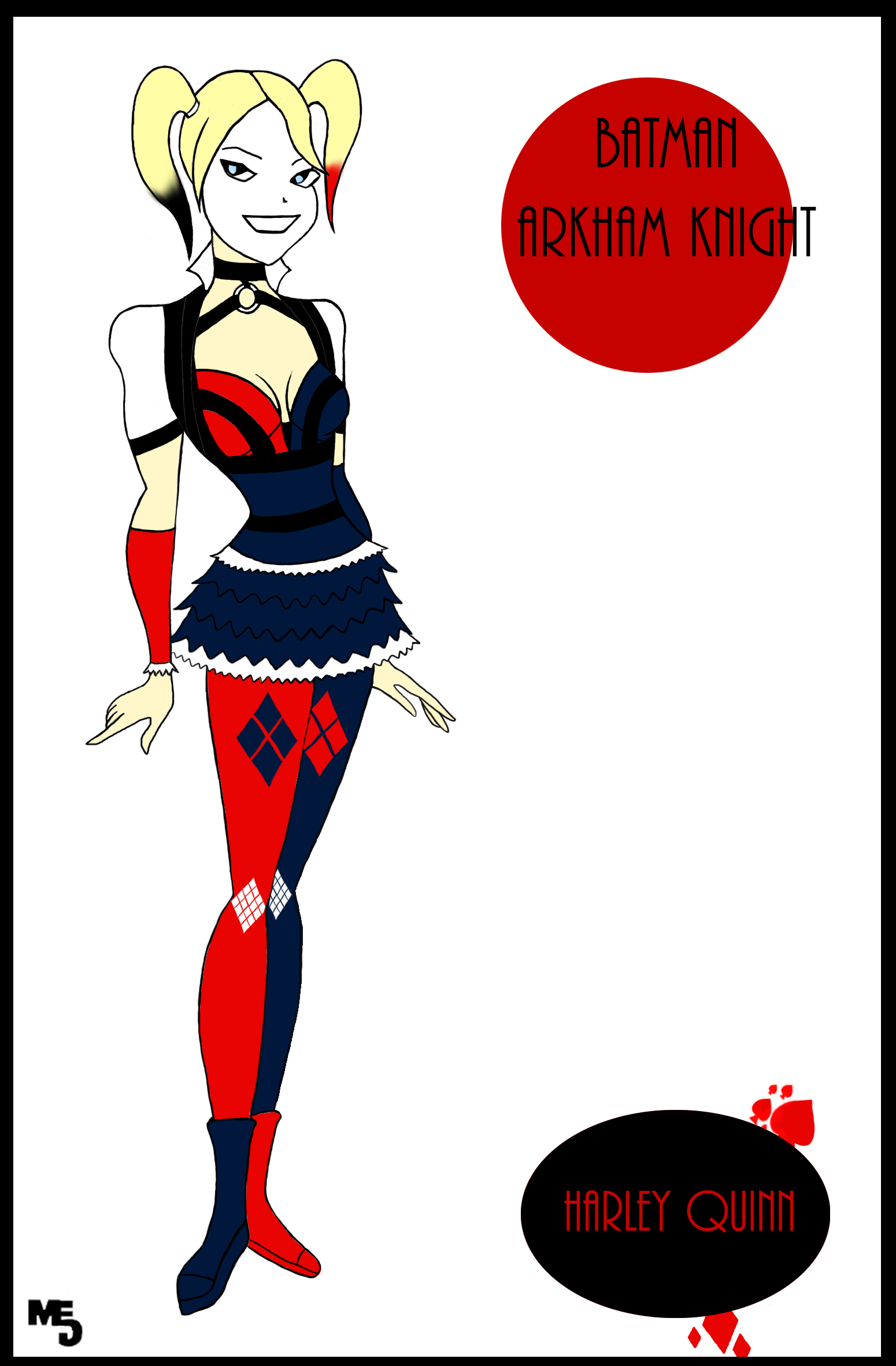 Batman: Arkham Knight - Harley Quinn's new design by Mark-EG