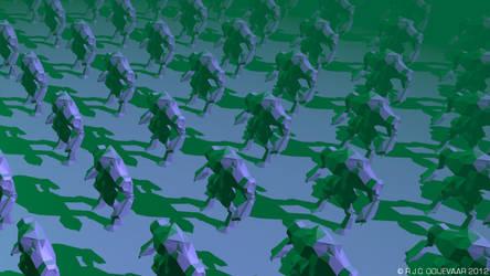 crosseye trick robot army by RogerStork