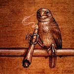 Lola the smoking bird
