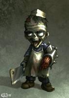 Zombie butcher by RogerStork