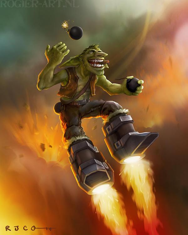 Rocketboot goblin by RogerStork