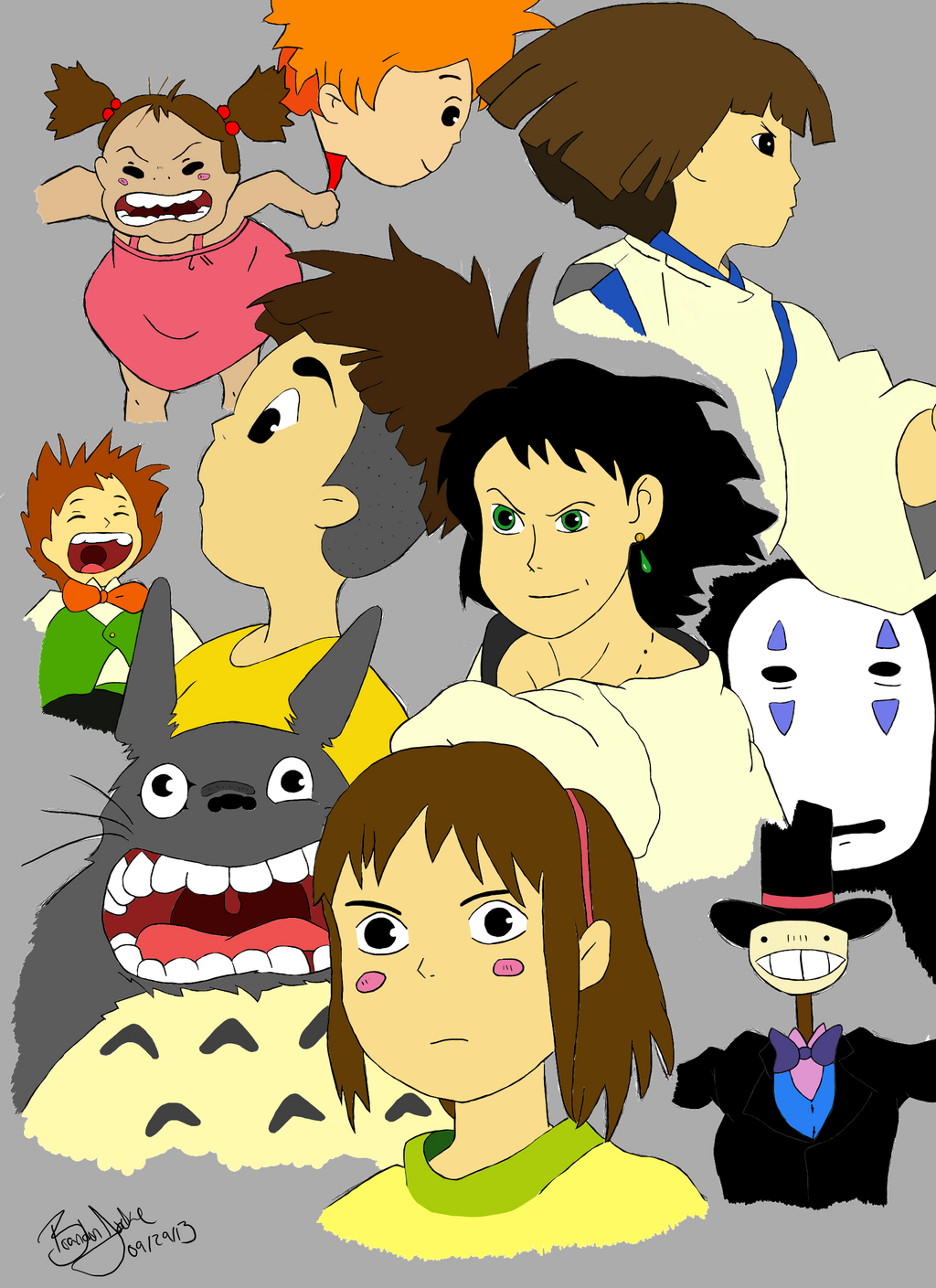 The gallery for --> Studio Ghibli Characters Collage