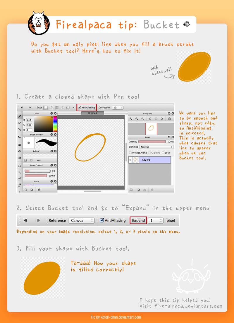 Firealpaca tip: Bucket Tool by kotori-chan on DeviantArt
