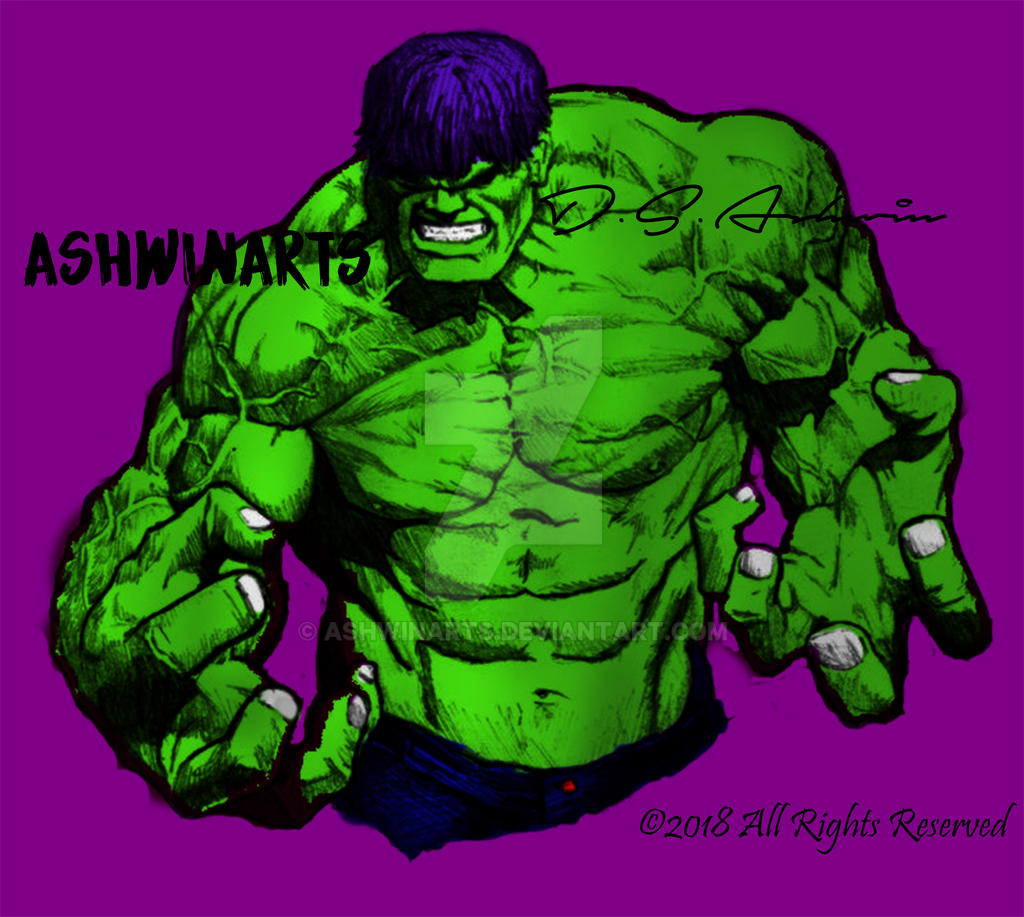 Hulk Comic by AshwinArts