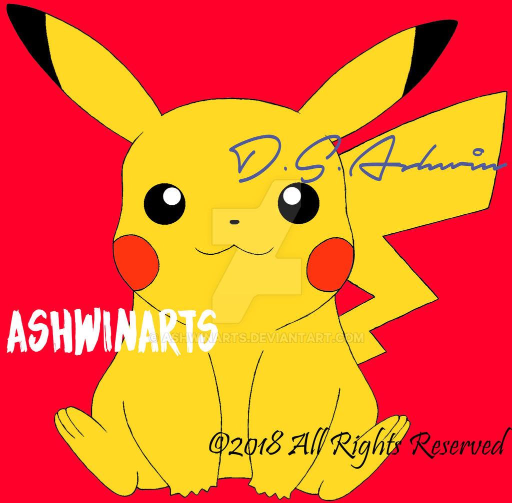 Pikachu by AshwinArts