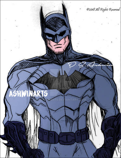 Comic Batman by AshwinArts