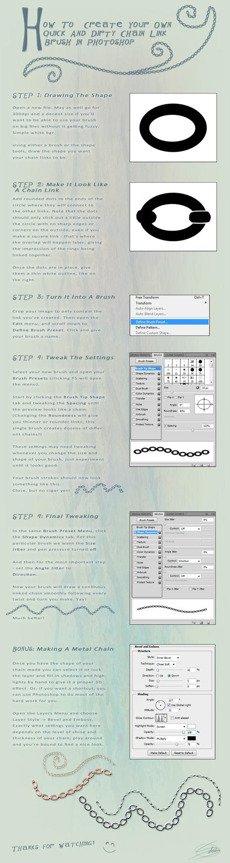 How To Create A Chain Link Brush In PS by silvestris
