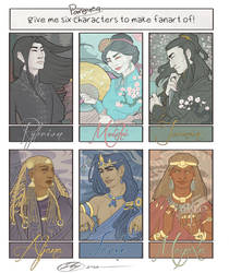 6 (Pangaea) characters fanart