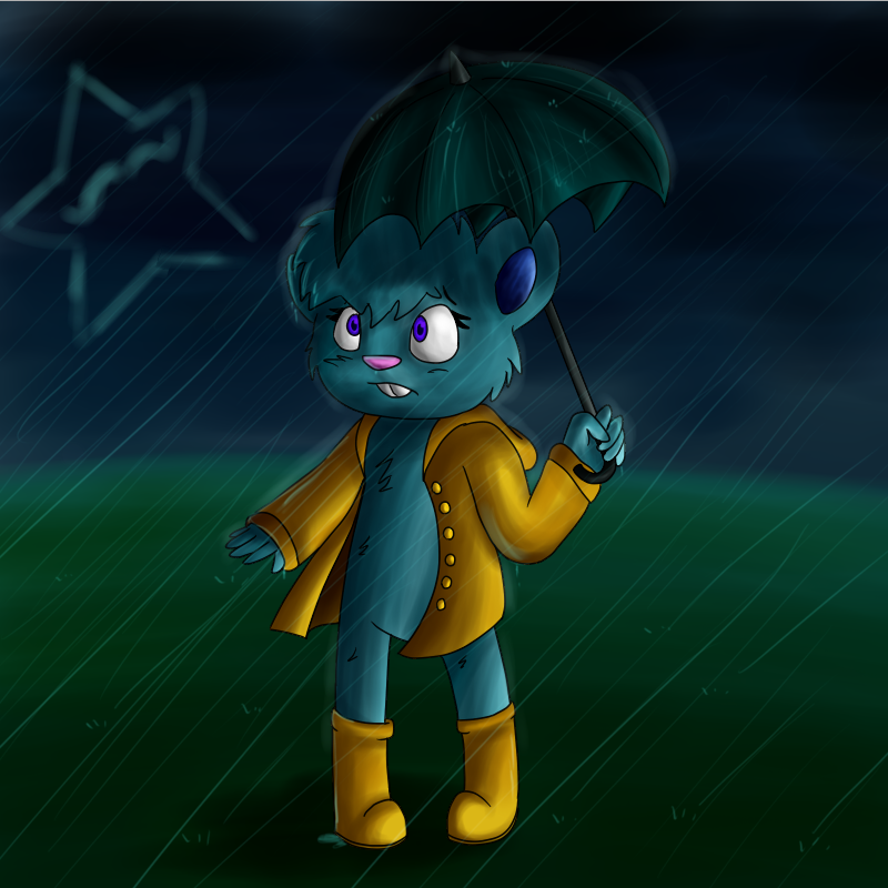 Rainy day by MannieTheLeopard