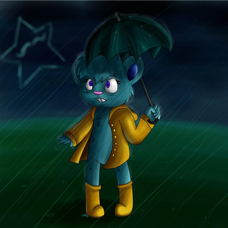 Rainy day by MannieTheLeopard