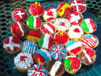 Flag Cupcakes! -Hetalia Day'12- by vivthehedgehog