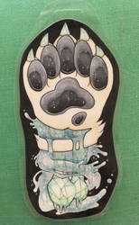 Terci Icy Rapids Gore Paw Badge by vivthehedgehog