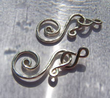 Handcrafted spiral clasps by Bright-Circle