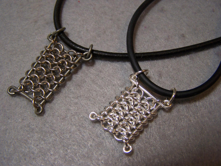 Chainmail pendants by bright circle on deviantart chainmail pendants by bright circle mozeypictures Image collections