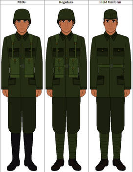 Norcourtian Standard Infantry Uniform Pattern 1928 by norcourt