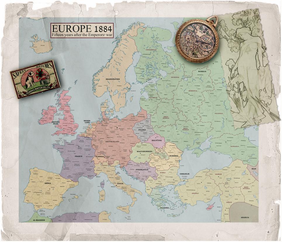 Europe 1884 by enannglenn