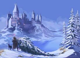 Winter Hogwarts by kissyushka