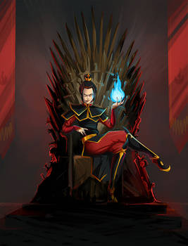 Azula on the Iron Throne
