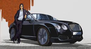 Severus and the car by kissyushka