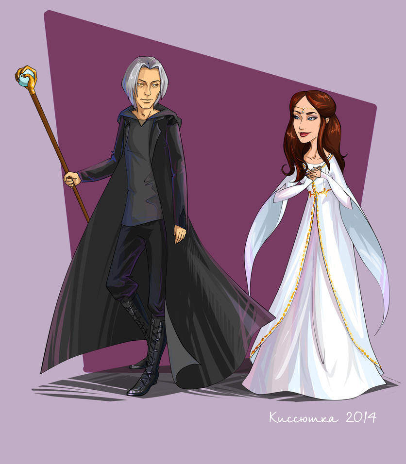 Raistlin and  Crysania 03 by kissyushka
