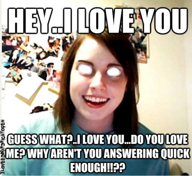 Dating an obsessive girl