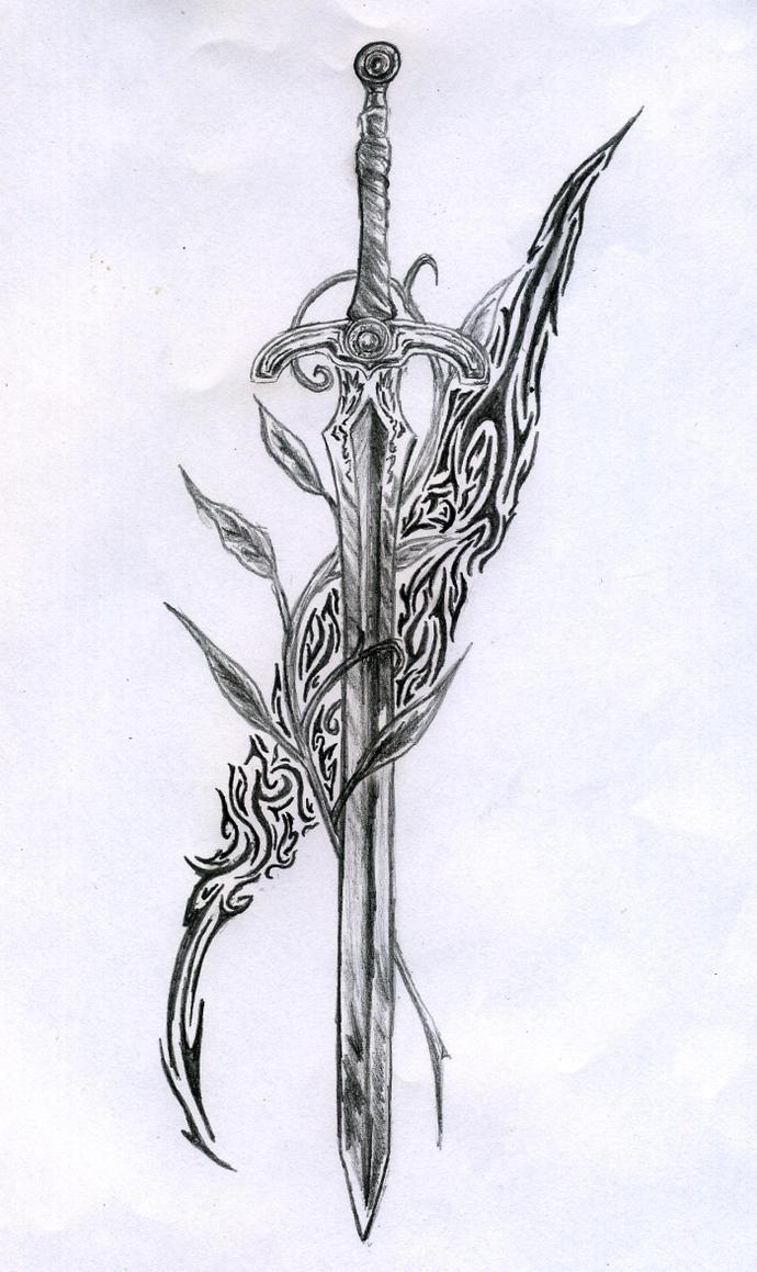 Sword tattoo by regis666 on deviantart for Sketch it online