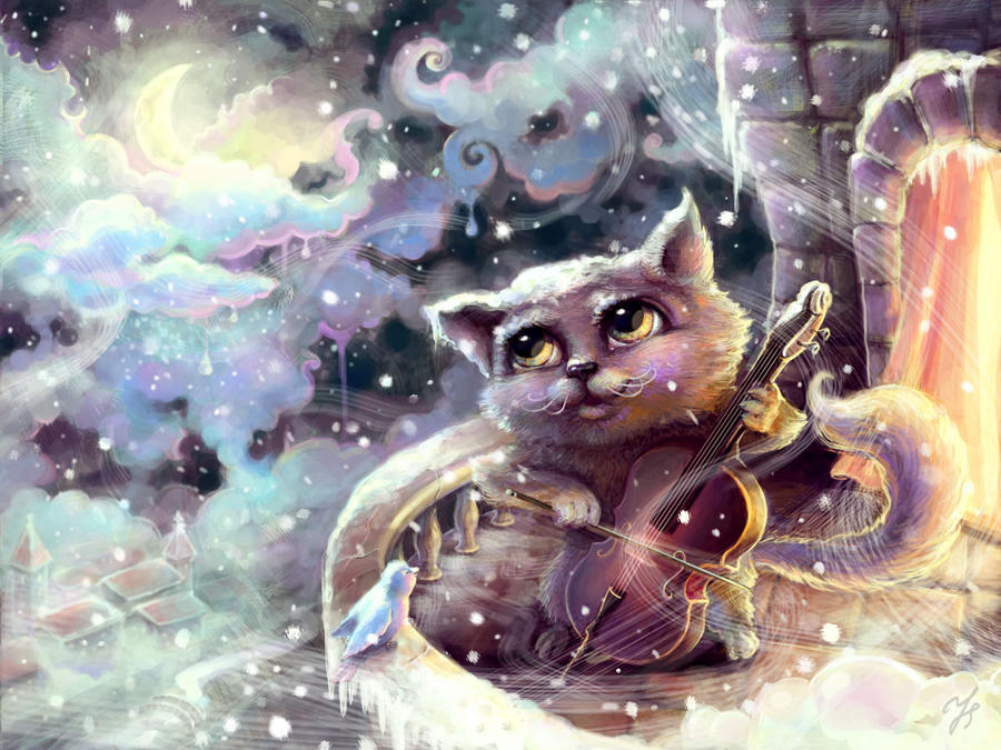 Music cat by Jasvena
