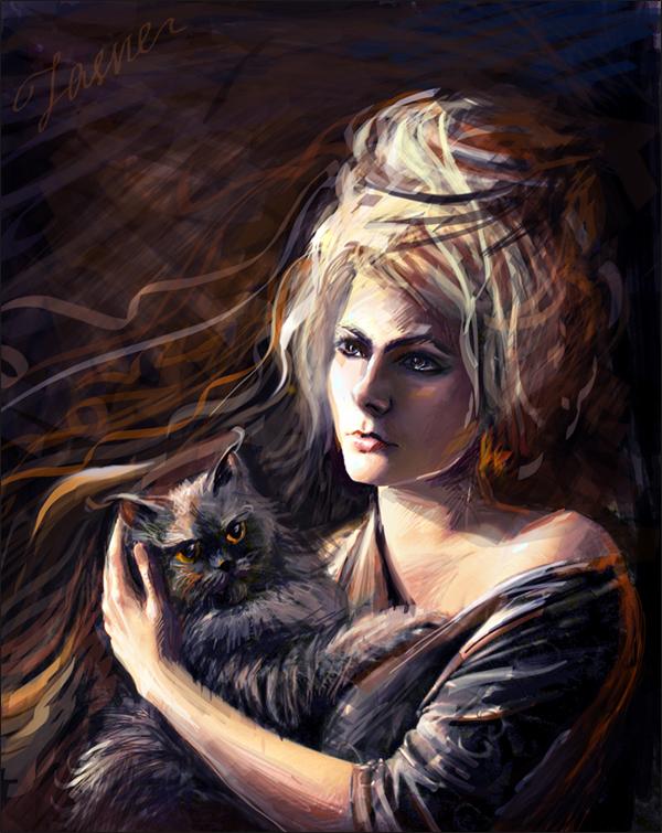 My magical cat by Jasvena