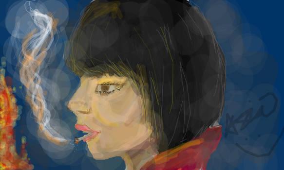 smoking girl by natasian