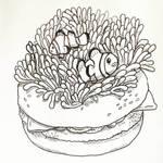 Anemone Fish and Anemone Burger by natasian