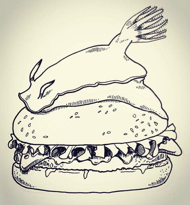 Nudibranch Burger by natasian