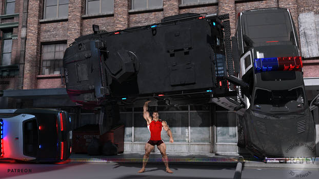 VKC522 Nate Lifts SWAT Truck, Clothed, Cam F