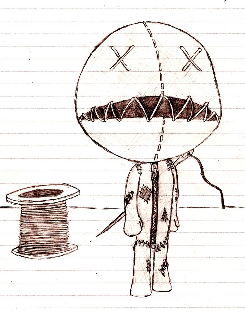 voodoo doll drawings - HD 1118×1421