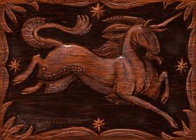 Wood unicorn by Starhorse