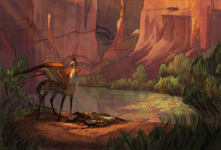 Lyriel and Conran by Starhorse