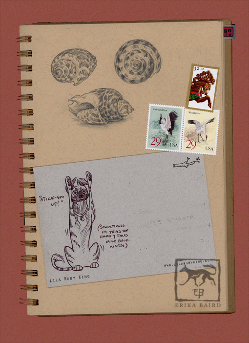 Sketchbook page and postcard by Starhorse