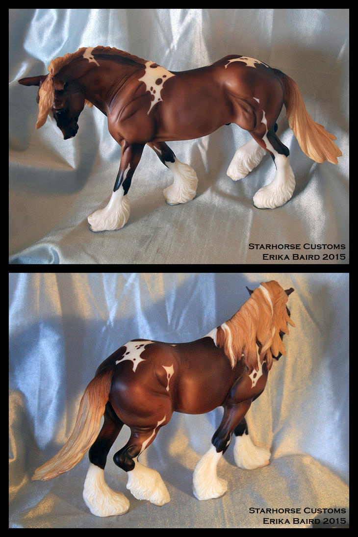 'Chance of Snow' Breyer CM etchie by Starhorse