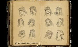 Expression sheet: Tiago