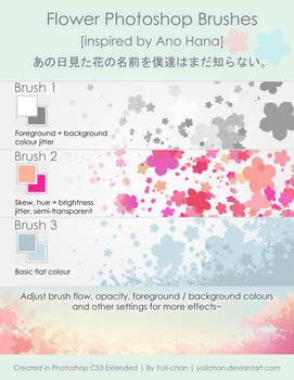 Ano Hana Flower Photoshop Brush