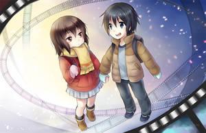 Kayo and Satoru by yolichan