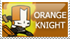 Castle Crashers: Orange Knight by PetrifiedMoon