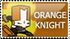 Castle Crashers: Orange Knight by PetrifiedMoon