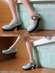 Light Turquoise shoes by Dynamene-Dolls