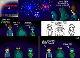 Goofy Man and Godzilla 5 by AlmightyRayzilla